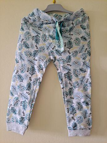 Nowe spodnie z letnim motywem liści 98