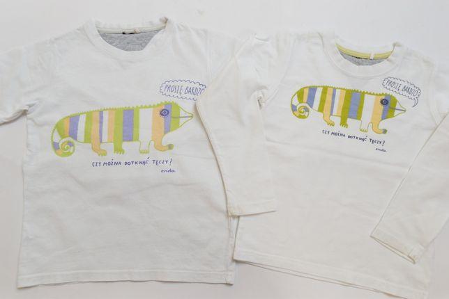 """T-shirt 122 i bluzka z długim 116 """"Czy można dotkąć tęczy"""" ENDO"""