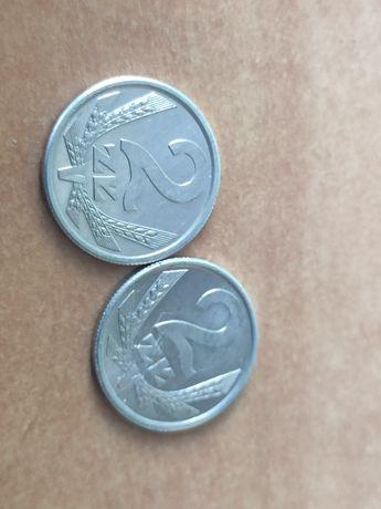 2 monety 2 złote PRL 1989 r.