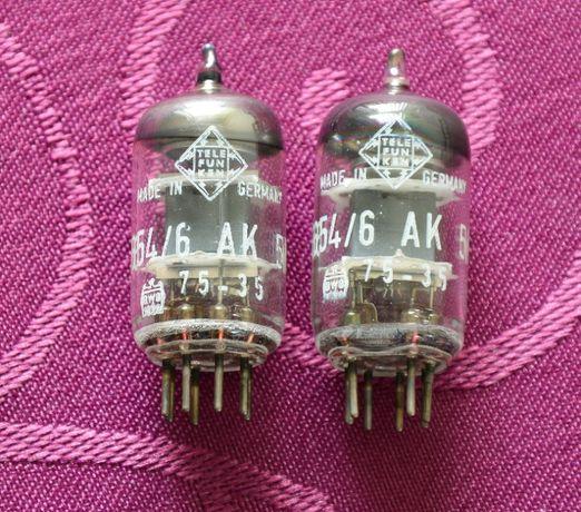 Lampa elektronowa TELEFUNKEN 5654 / 6AK5 W - 2szt.