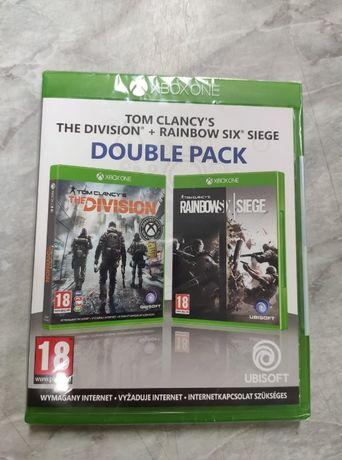 Gry Xbox One Tom Clancy's the divison + Rainbow six siege nowe folia