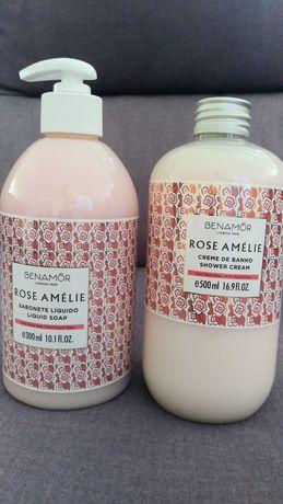 Kit Rose Amélie - Creme de Banho 500ml+ Sabonete Liquido 300ml