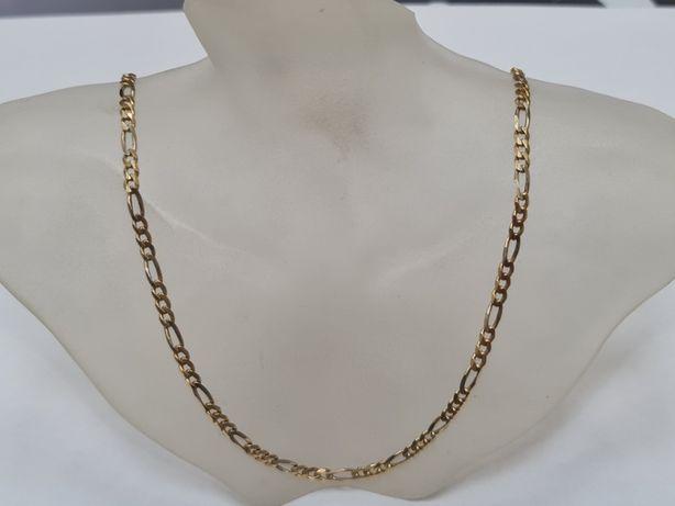 Pełny złoty łańcuszek męski/ Figaro/ 750/ 14.95 gram/ 50cm/ sklep