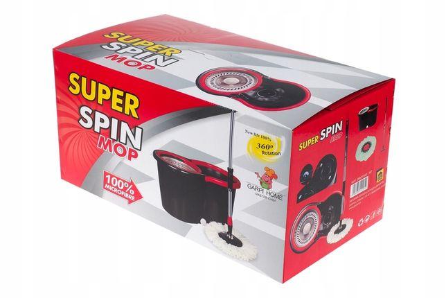 Mop Obrotowy SuperSpin 360 !! NOWY !! Wiadro Kij Mikrofibra Gwarancja