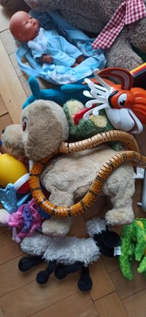 Worek zabawek maskotki i inne