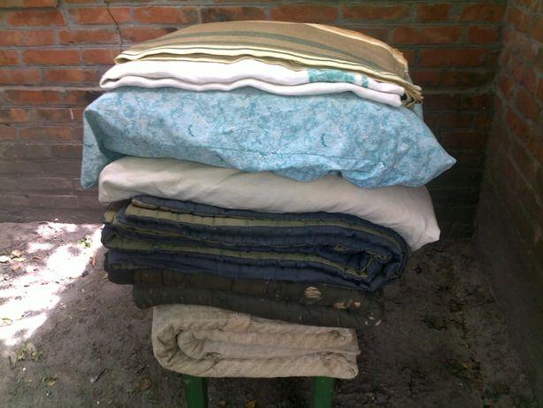Ватное одеяло подушка матрас скатерть покрывало СССР - цена за всё