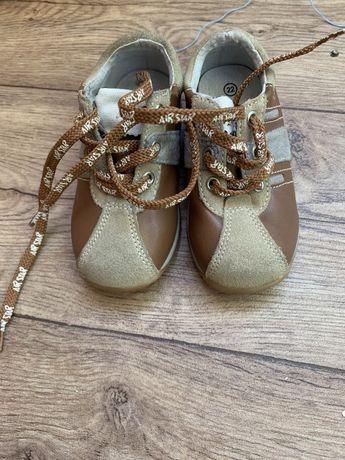 Детские ботинки кожаные 22