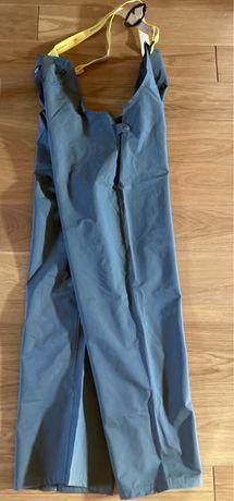 Helly Hansen gumowe spodnie ogrodniczki robocze wodoodporne L