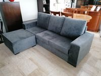 Sofá chaise longue com parte do poufe separado