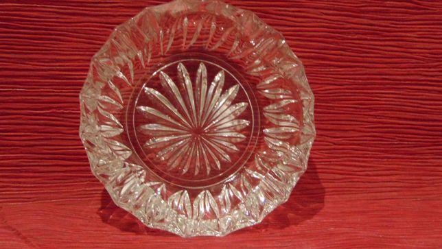 Kryształowa popielnica - Motyw kwiata - Bez uszczerbków