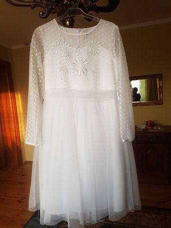 Sukienka SLY roz.134 komunijna/pokomunijna