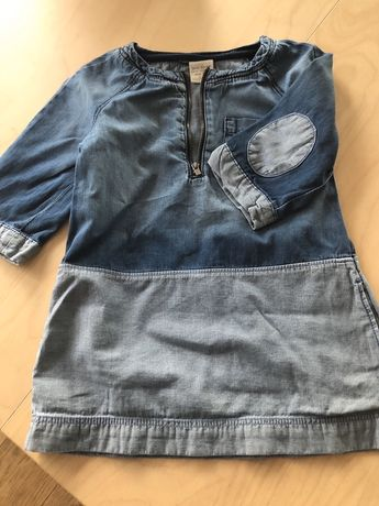 Sukienka dżinsowa jeans Zara 104 3/4