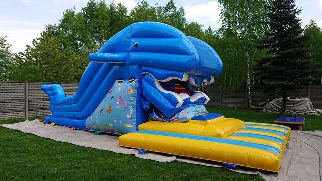 Wieloryb połykacz dmuchaniec dmuchany zjeżdżalnia plac zabaw