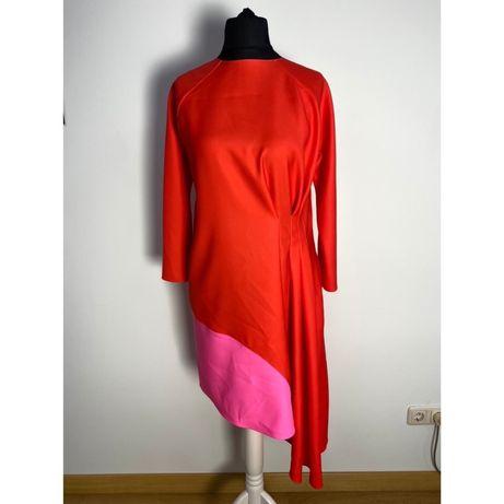 Платье красноe  Dior  шелк