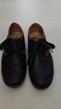Туфлі- мокасини хлопчачі 34 розмір