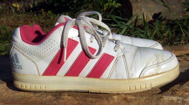 Кроссовки Adidas белые женские, размер 36,5 - 37, uk4, стелька 23,5 см