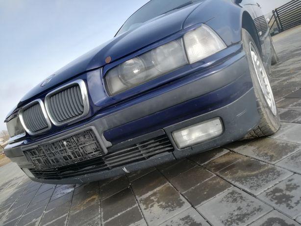 BMW e36 zderzak Montrealblau belka listwy