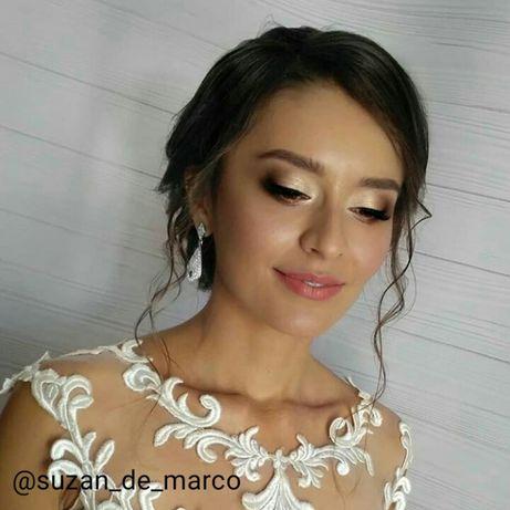 Визажист-стилист Свадебный вечерний макияж на выпускной прически