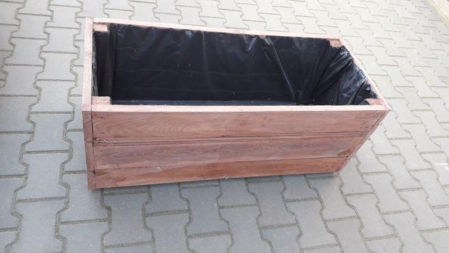 Donica doniczka  drewniana ogrodowa