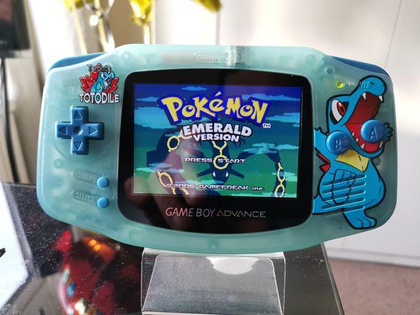 Gameboy Advance IPSv2 Pokemon, pokrowiec, folie