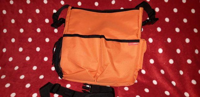 Skip hop torba do wózka pomarańczowa