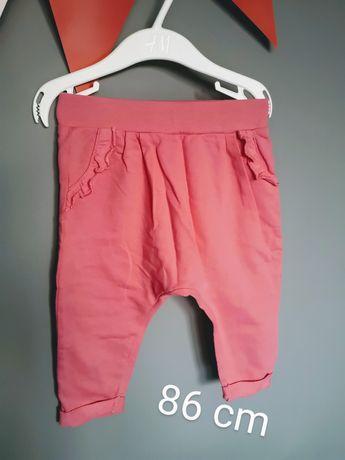 Baggy spodnie dresowe dres 86 cm jak nowe