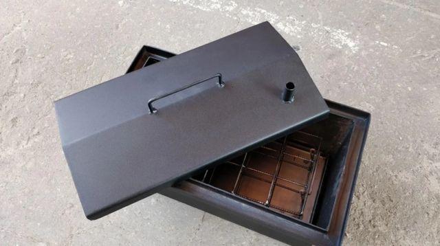 коптильня 2 мм домиком с гидрозатвором коптилка горячего копчения