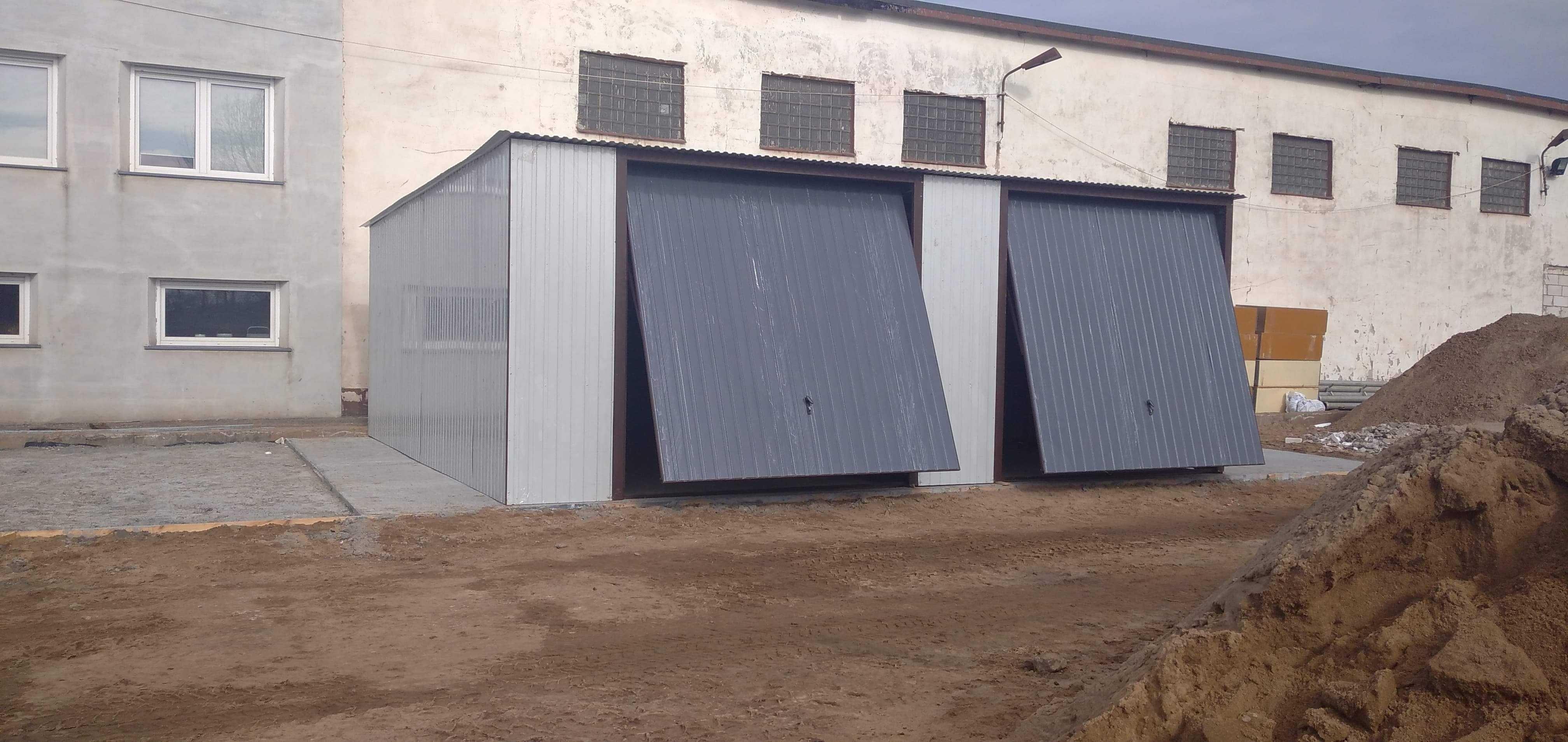 Garaże blaszane, garaż 8x7, wzmocniony, profil, producent garaży, wiat