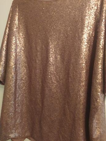 Блуза  в паєтках бронзового кольору