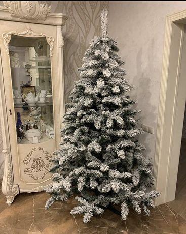 Ель елка заснеженная в снегу снежная