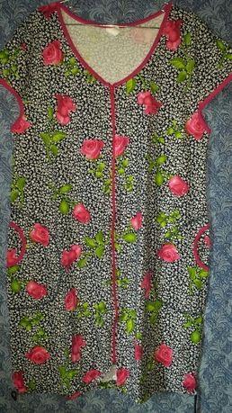 Трикотажный халат 56,58 размер