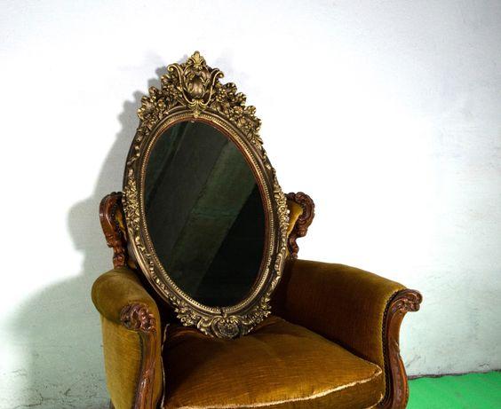 Антикварная мебель, зеркало резное, гипсовое. Барокко.
