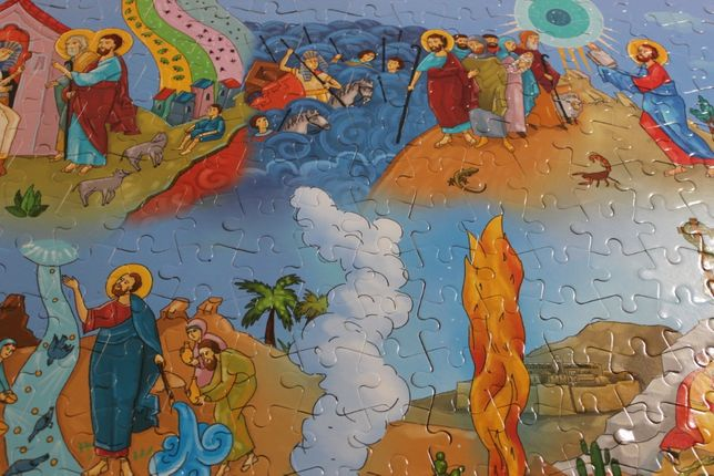 Большие пазлы Пророк Моисей 216 пазлов Серия Библия для детей из Лавры
