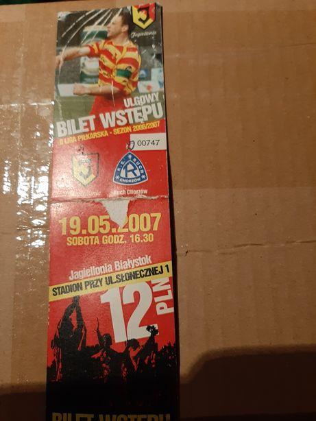 Bilety Jagiellonia Stare kolekcjonerskie