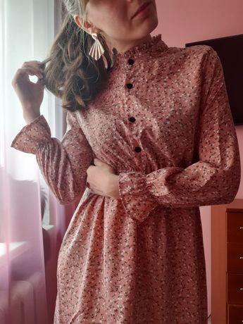 Стильна ніжна сукня платье цветочный принт