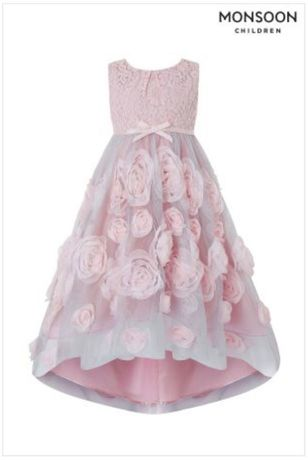 Шикарное удлиненное нарядное платье 7-10 лет Monsoon Англия Оригинал