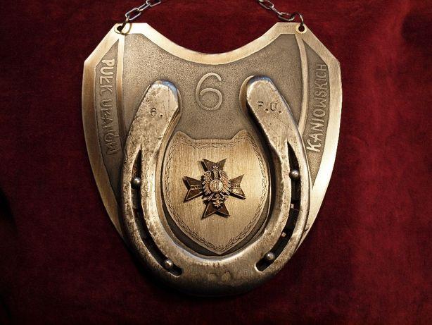 Ryngraf 6. Pułk Ułanów Kaniowskich ,unikatowy, do szabel, z odznaką