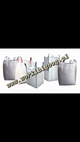 Worki Big Bag Bagi Wentylowane 1300kg BIGBAG Siatkowy Ziemniak Marchew