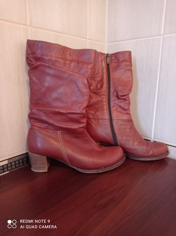 Сапоги ботинки кожа