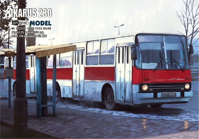 Angraf nr 6/2017 - Autobus Ikarus 280, skala 1:25