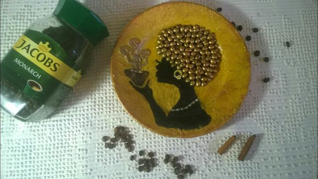 Тарелка декоративная, подарок своими руками