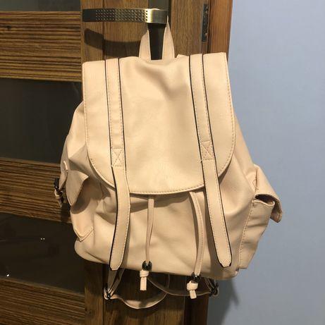 Plecak vintage pudrowy różowy