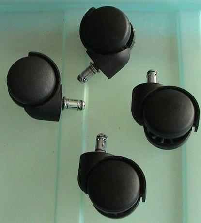Rodízios PK 50 mm (Rodas para cadeira giratória)-Preço total dos 4