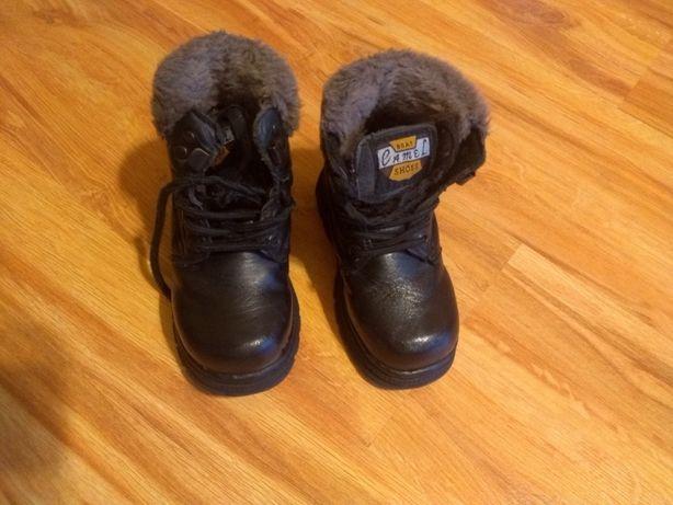 Zimowe buty kozaki chłopięce r.25