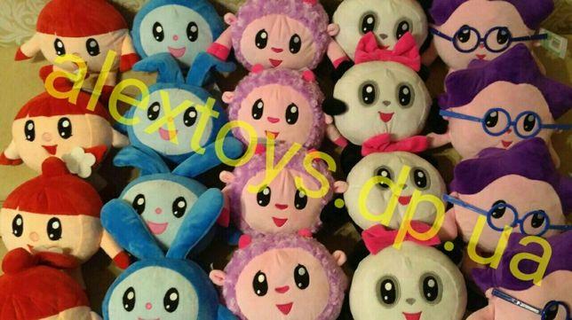 Малышарики мягкие игрушки малышариков пандочка ежик нюшенька крошик