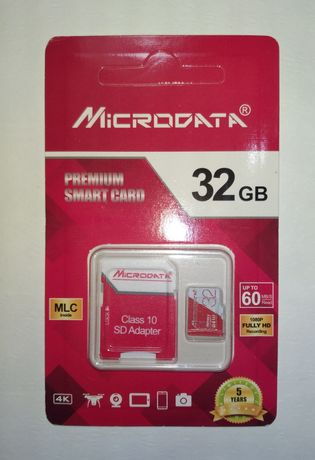 Карта памяти Microdata 32Gb micro SD-kard для смартфонов и др.гаджетов