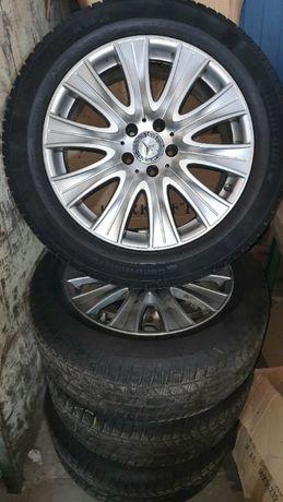 """Koła Zimowe 18"""" Mercedes z oponami zimowymi 245/50 Continental"""