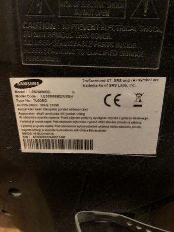 Telewizor Samsung 50 cali uszkodzony