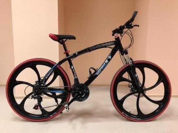 "+БОHУC!! Велосипед горный BMW BLACK WHITE на литых дискax 26""17 W0097"