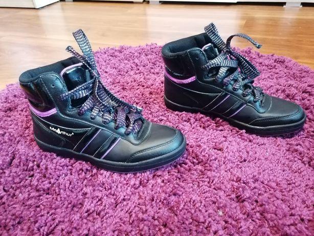 Buty damskie 37 fioletowo-czarne